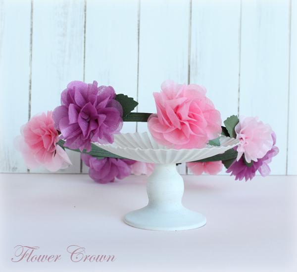 ペーパーフラワー(不織布)の花冠