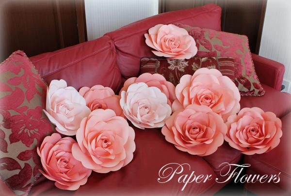 前田京子のペーパーフラワー・ペーパーアートのウォールフラワー(紙のバラ)