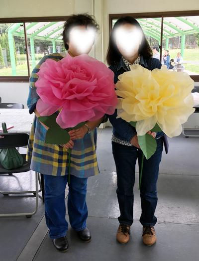 前田京子のペーパーフラワー・ペーパーアート(ジャンボフラワー、ジャイアントフラワー)