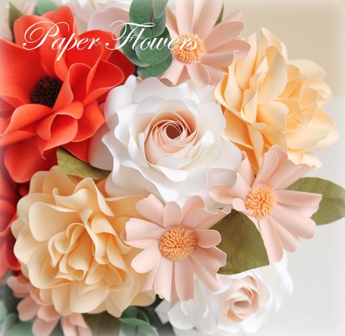 前田京子のペーパーフラワー、ペーパーアート(紙の花)